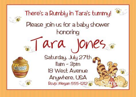 Winnie The Pooh Baby Shower Invitations Baby Shower Stuff