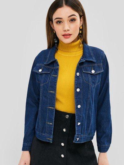 Dark Wash Denim Jean Jacket Denim Dark Blue M Blue Jackets Outfits Denim Jacket Women Blue Denim Jacket Outfit