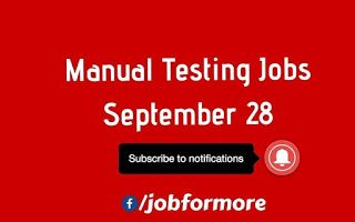 Are You Looking For Manual Testing Jobs In Mumbai Hyderabad Bangalore And Chennai Click The Bell Icon On The Link In The Post T Manual Testing Job Manual