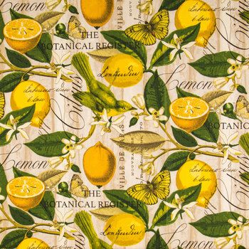 Lemon Novelty Duck Cloth Fabric Kitchen Window Valances Fabric Art