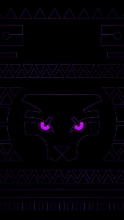 Black Panther Neon Variant Wallpaper Pack Phone Tablet
