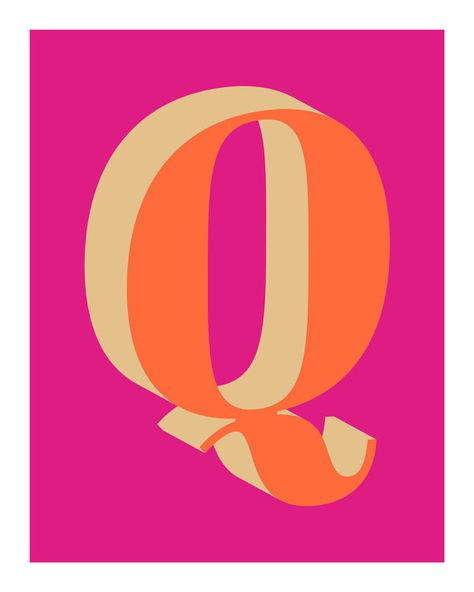 The Letter Q is available now at Etsy. #art #prints #giclee #etsy #LetterQ #typography