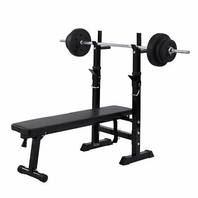 Ad Ebay Adjustable Weight Bench Press Barbell Rack Exercise Strength Training Workout In 2020 Exercise Benches Adjustable Weight Bench Adjustable Weights