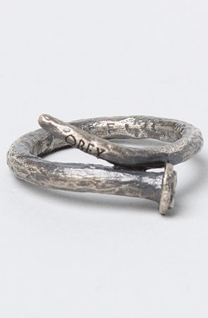 The Craftsman Ring in Silver Oxidize by Obey