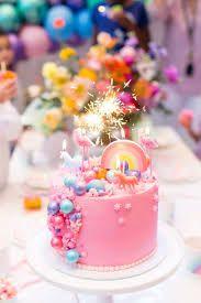 صوره كيكه عيد ميلاد Google Search Rainbow Birthday Party Birthday Cake Girls Birthday Party Cake