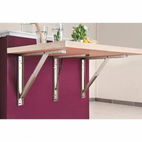 Support De Table Escamotable Avec Piston Table Escamotable Plan De Travail Cuisine Amenagee