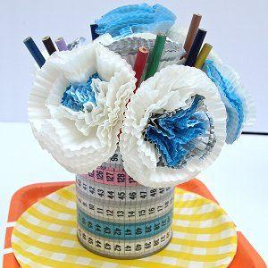 Cupcake Liner Teacher Appreciation Bouquet