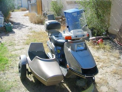 I Would Love A Sidecar For My Honda Elite 250 Scooter Honda
