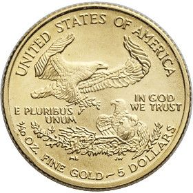 The Reverse Of The American Eagle 1 10 Oz Gold Coin Is Finely Crafted The Back Side Of The America Silver Coins For Sale American Eagle Gold Coin Gold Coins