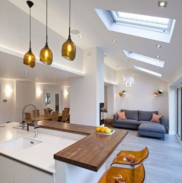 Find Cool L Shaped Kitchen Design For Your Home Now Open Plan Kitchen Living Room Kitchen Floor Plans Open Plan Kitchen Dining Living