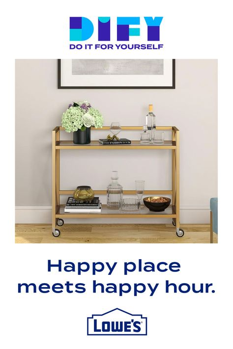 Indulge in the bar cart of your dreams.