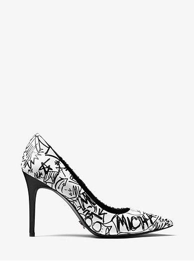 Leather pumps, Graffiti shoes