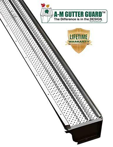 A M Aluminum Gutter Guard 5 Sample 6 Inch Mill Finish 6 Inch Sample Included Gutter Guard Gutter Metal Roof