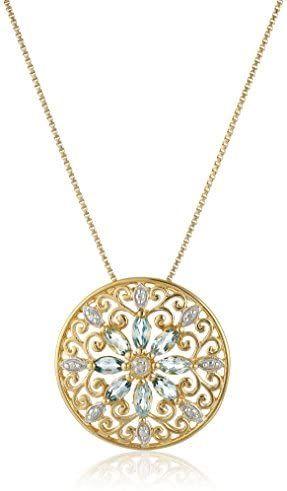 Necklace Gold Mandala with citrine