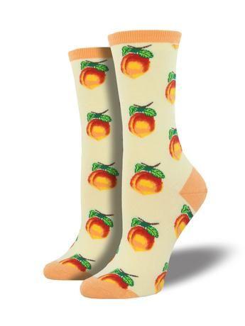 Socksmith Womens Crew Socks Georgia Peach Cotton Blend Novelty Footwear New