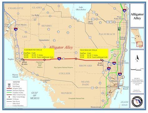 Alligator Alley Map Www Kirkf Com Our Florida Trip Florida