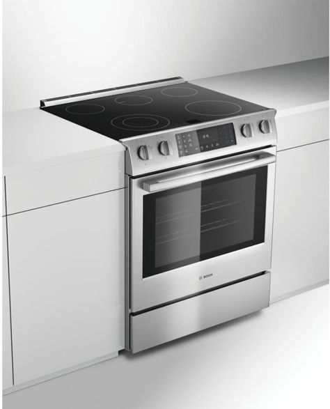 Bosch Hei8054u 30 Inch Slide In Electric Range With True Convection Warming Drawer Self Cleaning Mode 5 Smoothtop Elements 4 6 Cu Ft Oven Capacity 11 Spe Slide In Range Induction Range Induction Stove