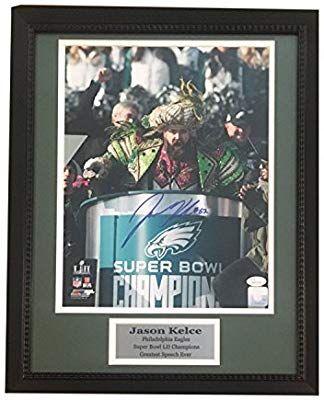 new concept ffe12 11a22 Jason Kelce Autographed Philadelphia Eagles Super Bowl LII ...