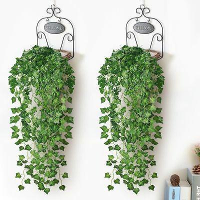 7.87ft Artificial Ivy Leaf Garland Plants Fake Vine Foliage Flowers Home Decor.