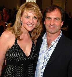 Amanda Tapping with friendly, Husband Alan Kovacs