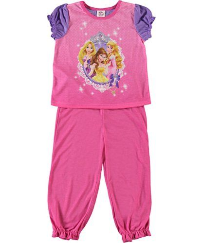 Once Upon a Princess w//Ariel Sizes 2T-4T. Rapunzel /& Cinderella Girls Toddler T-Shirt with Ruffle Fuchsia 2T