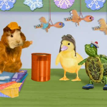 Oh No The Phone Is Ringing Which Means An Animal S In Trouble Watch The Wonder Pets Get Ready To Help Save The Baby Goslings In Wonder Pets Pets Animal Gifs