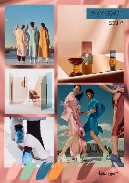 43 Trendy Fashion Inspiration Moodboard Color Trends