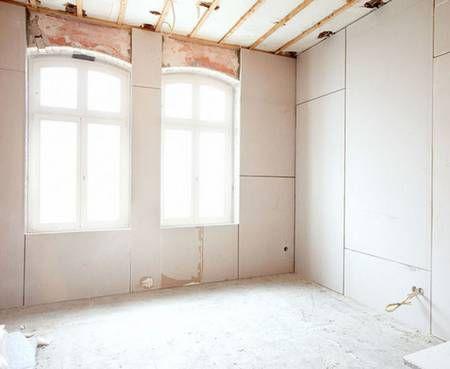 Gipskartonplatten Kleben Statt Verputzen In 2020 Wand Verputzen Verputzen Innen Haussanierung