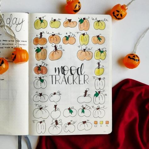 25 Halloween Bullet Journal Mood Trackers You'll Love - The Creatives Hour