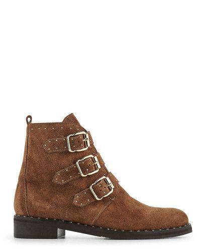 Boots VELOURS en VEAU Boots Taupe Danie Minelli shQtrd