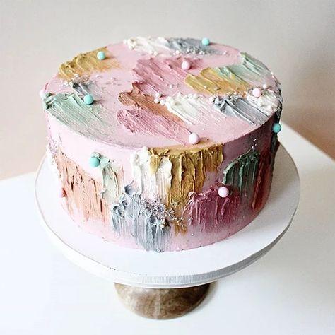 find singles trend/trend-alert-spatula-painted-wedding-cakes-onefabday-com-ireland/ people femdom ringkampf Pretty Birthday Cakes, Pretty Cakes, Beautiful Cakes, Amazing Cakes, Cupcake Cakes, Cupcakes, Soul Cake, Painted Wedding Cake, Cake Trends