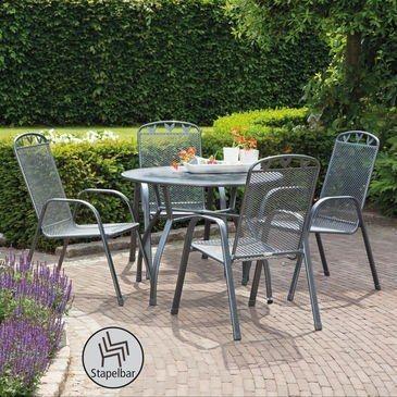 Gartenmobel Set Nizza 5 Tlg Runder Tisch 4 Stapelsessel Jetzt Bestellen Unter Tisch Ideen Gartenmobel Garten Toulouse
