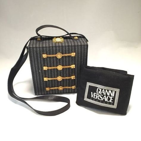 b1f8a3a3bf86c gianni versace vintage boxy hand bag   sling bag from the 90s. perfect  condition. Authenticity Guaranteed or your money back ask me any question if