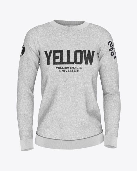 Download Women S Melange Sweatshirt Mockup Front View In Apparel Mockups On Yellow Images Object Mockups Clothing Mockup Shirt Mockup Design Mockup Free