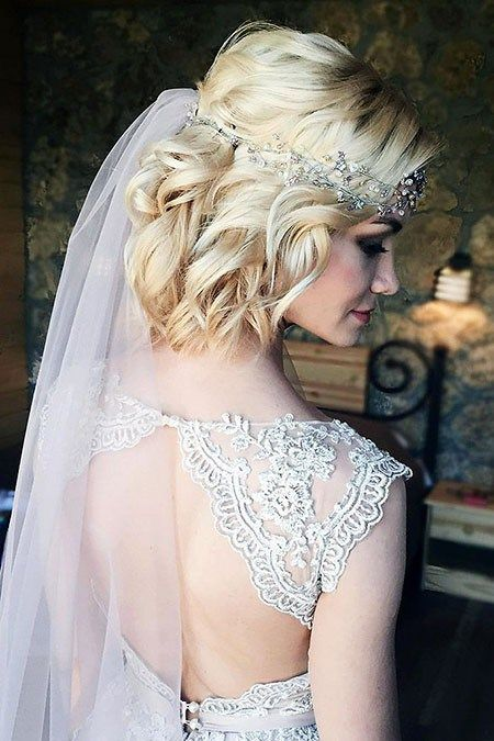 Wedding Hairstyles For Short Hair Short Wedding Hair