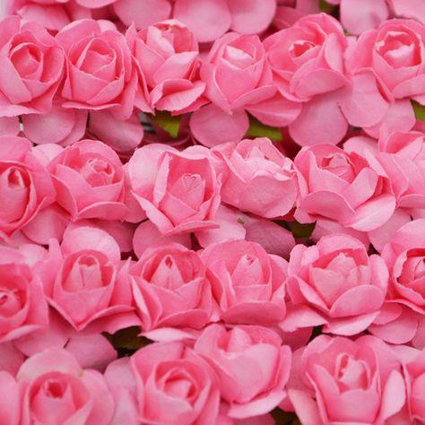 36pcs 2cm Mini Artificial Paper Rose Flowers For Wedding