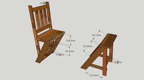 3D Model of Cadeira x Escada