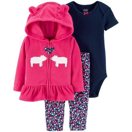 CARTER/'S BABY GIRL 3PC CARDIGAN BODYSUIT FLORAL LEGGING SET CLOTHES OUTFIT 24M