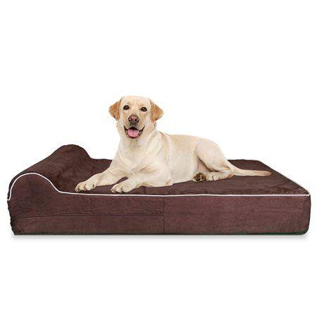 Kopeks Pillow Orthopedic Memory Foam Pet Dog Bed Large Brown Walmart Com Dog Cots Orthopedic Dog Bed Dog Pet Beds