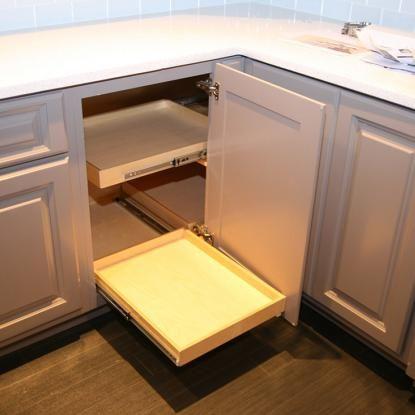 Blind Corner Cabinet Solution   Create Easier Access To Your Corner Cabinet  Storage With A ShelfGenie Of Mississauga U0026 Hamilton Blind Corner Cabineu2026