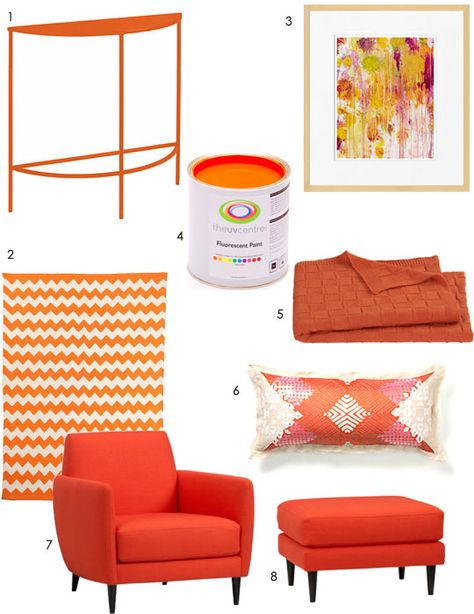 Looks like my apartment! Color Crazy: From Orange Crush to Tangerine Tango