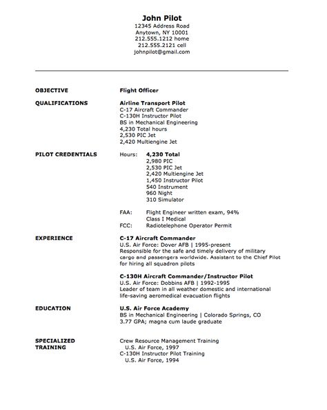 Military Flight Officer Resume Sample -    resumesdesign - cargo ship security officer sample resume