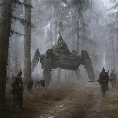 Artstation Jakub Rozalski In 2020 Concept Art World Concept Art Dieselpunk