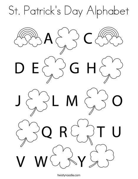 St Patrick S Day Alphabet Coloring Page Twisty Noodle Alphabet Coloring Pages Alphabet Coloring St Patricks Day