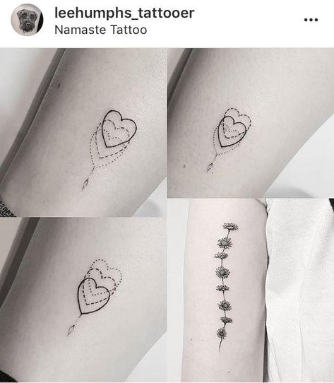 Would the hearts love for matching sister tattoos? - #cutejewelry