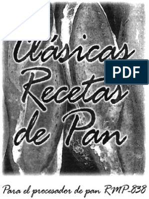 manual de maquina para hacer pan recco rmp 838