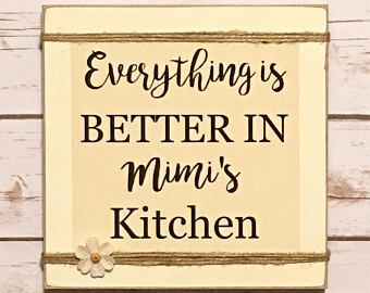 Personalized Gift Mimi 39 S Kitchen Gift For Grandmother Kitchen