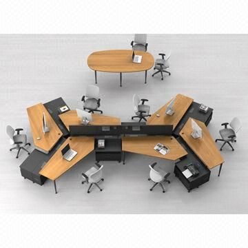 Butterfly Design Melamine Top and Metal Leg/Wooden and Metal Office  Workstation