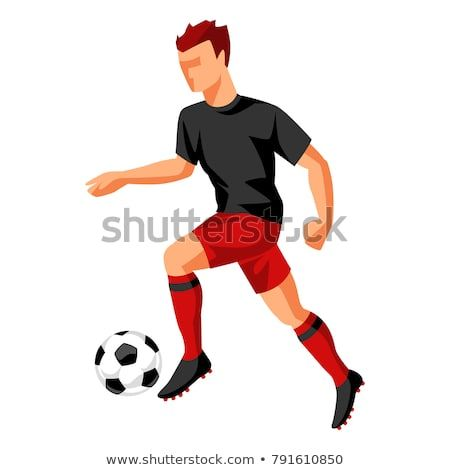 Soccer Player With Ball Sports Football Illustration Soccer Players Sport Football Soccer