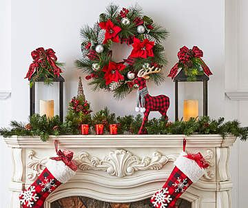 Tidings Decor Collection Big Lots Christmas Mantels Wreath Decor Christmas